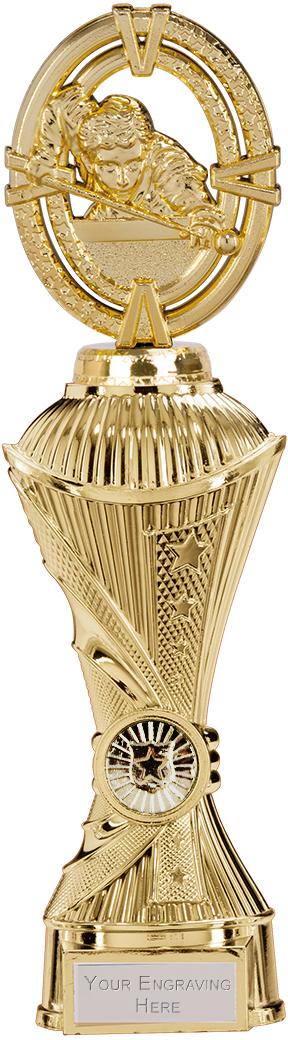 """Maverick Snooker Heavyweight Trophy Gold 28.5cm (11.25"""")"""