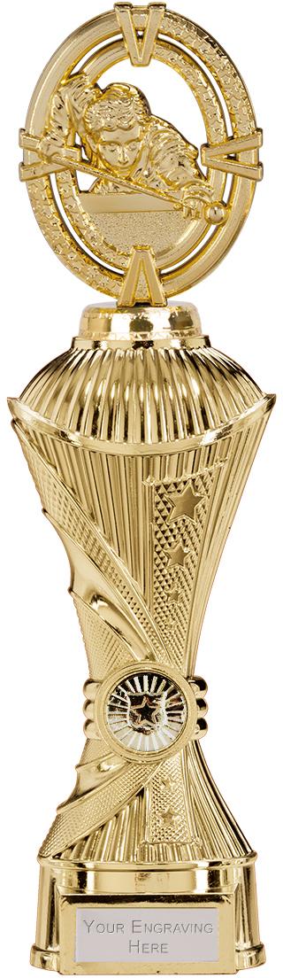 """Maverick Snooker Heavyweight Trophy Gold 30.5cm (12"""")"""