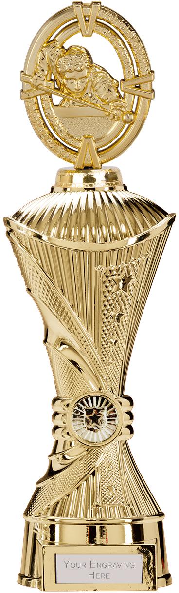 """Maverick Snooker Heavyweight Trophy Gold 33cm (13"""")"""