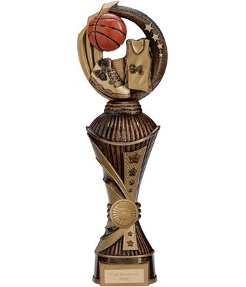 "Renegade Basketball Heavyweight Trophy Antique Bronze & Gold 32cm (12.5"")"