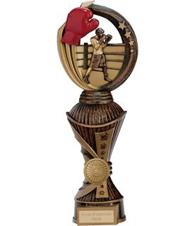 "Renegade Boxing Heavyweight Trophy Antique Bronze & Gold 28.5cm (11.25"")"