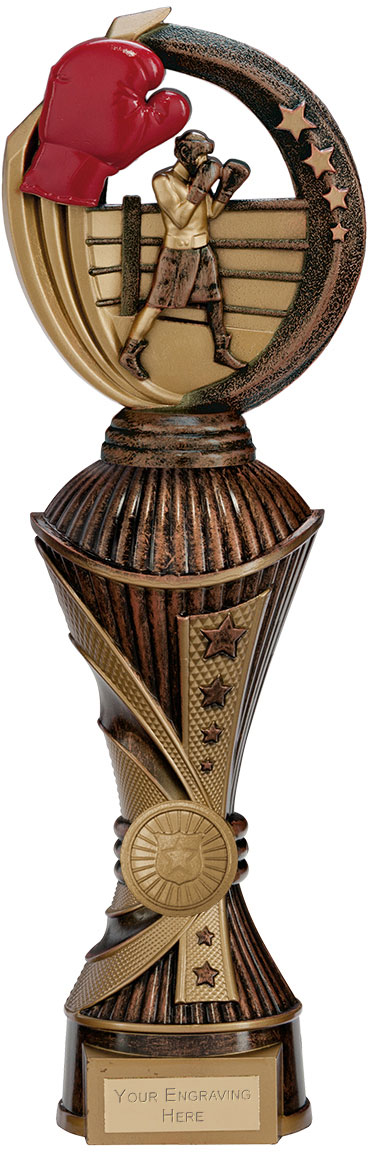 "Renegade Boxing Heavyweight Trophy Antique Bronze & Gold 32cm (12.5"")"