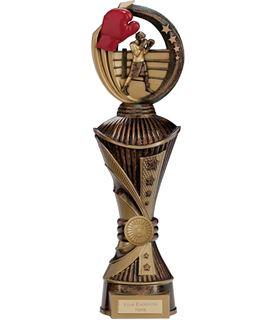 "Renegade Boxing Heavyweight Trophy Antique Bronze & Gold 35cm (13.75"")"
