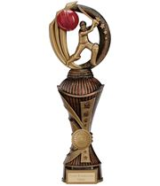 "Renegade Cricket Heavyweight Trophy Antique Bronze & Gold 30cm (11.75"")"