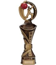 "Renegade Cricket Heavyweight Trophy Antique Bronze & Gold 35cm (13.75"")"