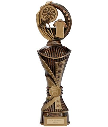 "Renegade Darts Heavyweight Trophy Antique Bronze & Gold 35cm (13.75"")"