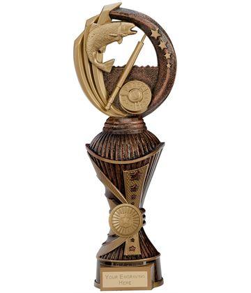 "Renegade Fishing Heavyweight Trophy Antique Bronze & Gold 28.5cm (11.25"")"