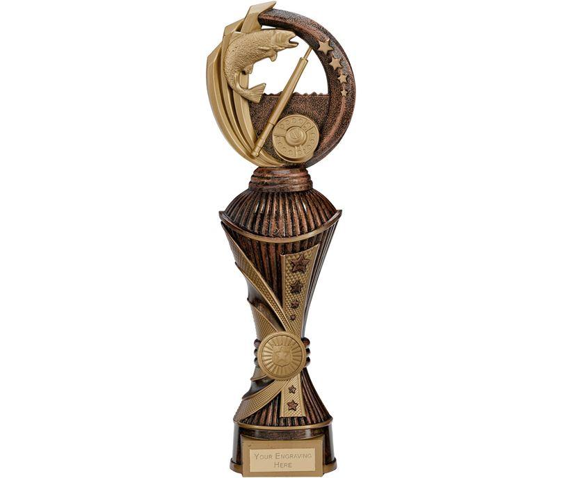 "Renegade Fishing Heavyweight Trophy Antique Bronze & Gold 32cm (12.5"")"