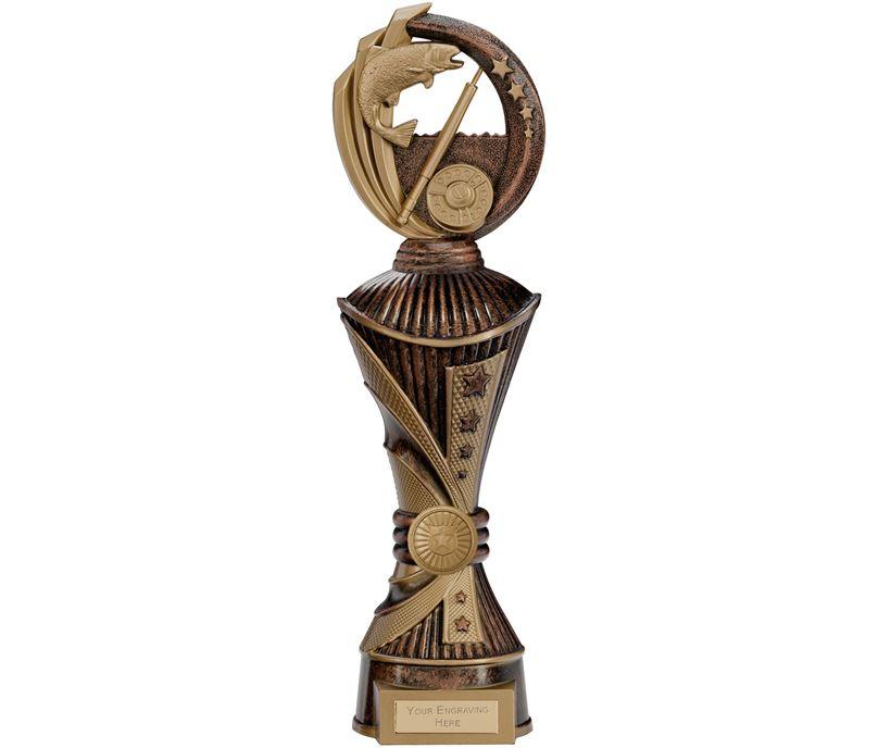 "Renegade Fishing Heavyweight Trophy Antique Bronze & Gold 35cm (13.75"")"