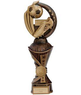 """Renegade Football Heavyweight Trophy Antique Bronze & Gold 28.5cm (11.25"""")"""