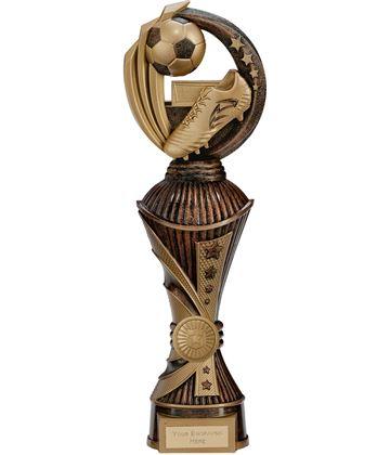 """Renegade Football Heavyweight Trophy Antique Bronze & Gold 32cm (12.5"""")"""