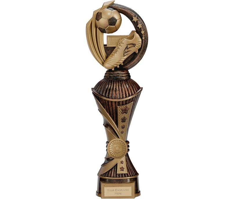 "Renegade Football Heavyweight Trophy Antique Bronze & Gold 32cm (12.5"")"