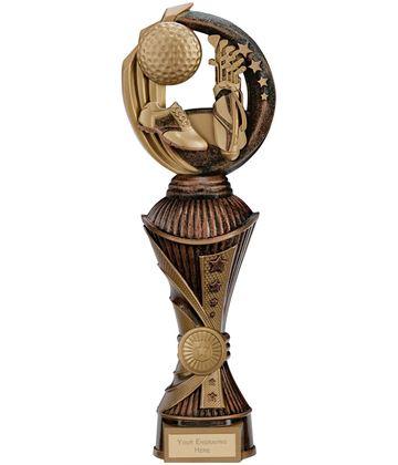 """Renegade Golf Heavyweight Trophy Bronze & Antique Gold 30cm (11.75"""")"""