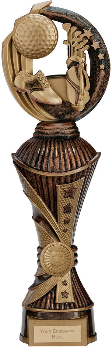 """Renegade Golf Heavyweight Trophy Bronze & Antique Gold 32cm (12.5"""")"""