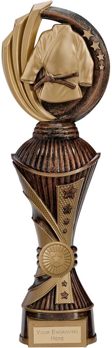 "Renegade MartialArts Heavyweight Trophy Antique Bronze & Gold 32cm (12.5"")"