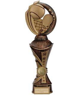 "Renegade Tennis Heavyweight Trophy Antique Bronze & Gold 30cm (11.75"")"