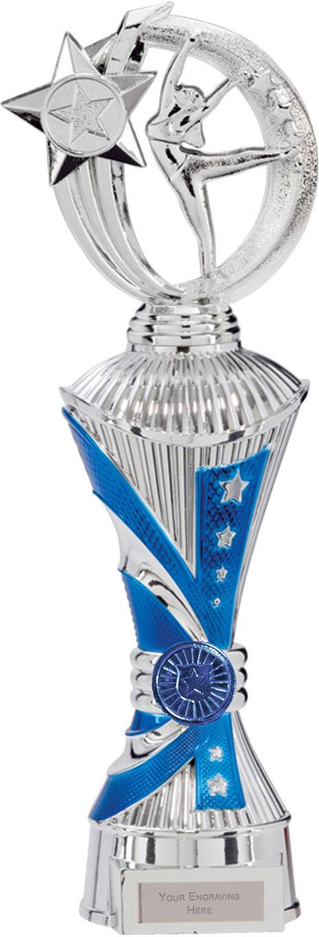 "Renegade Dance Heavyweight Trophy Silver & Blue 32cm (12.5"")"