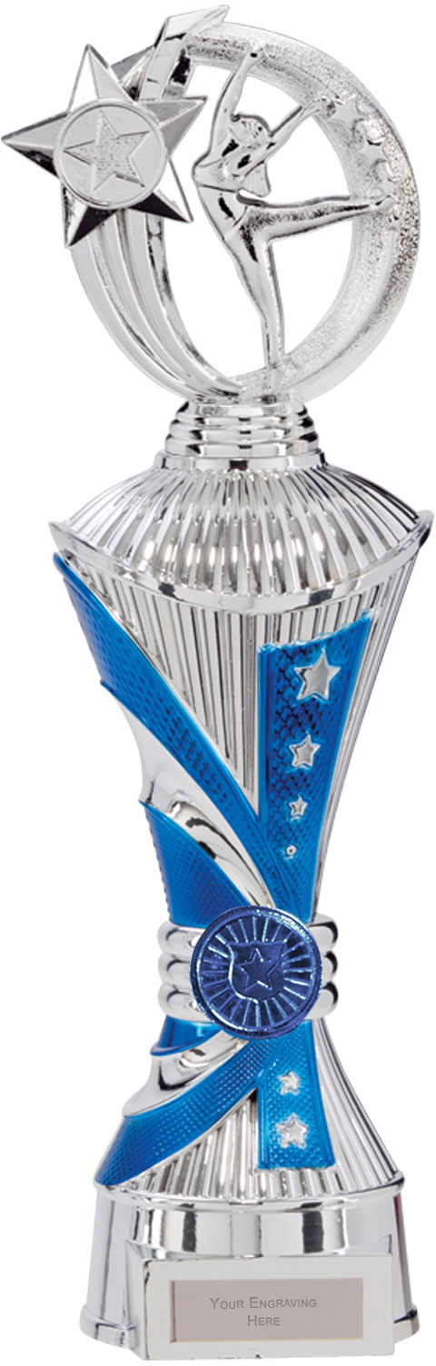 "Renegade Dance Heavyweight Trophy Silver & Blue 35cm (13.75"")"