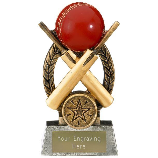 "Escapade Cricket Ball and Bats Trophy 12.5cm (5"")"