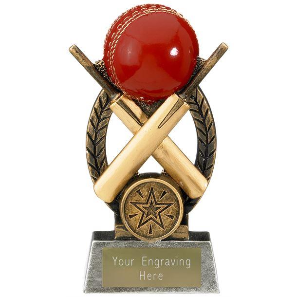 "Escapade Cricket Ball and Bats Trophy 13.5cm (5.25"")"