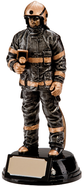 "Resin Extreme Firefighter Figure Trophy 19cm (7.5"")"