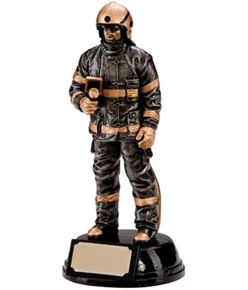 """Resin Extreme Firefighter Figure Trophy 19cm (7.5"""")"""