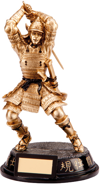 "Gold Resin Ultimate Samurai Warrior Figure Trophy 20cm (8"")"