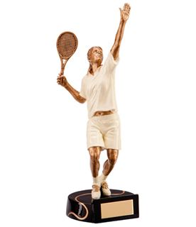 "Resin Extreme Action Female Tennis Figure Trophy 23.5cm (9.25"")"