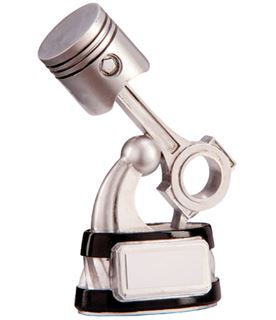 "Silver & Black Resin Motorsport Piston Trophy 14cm (5.5"")"