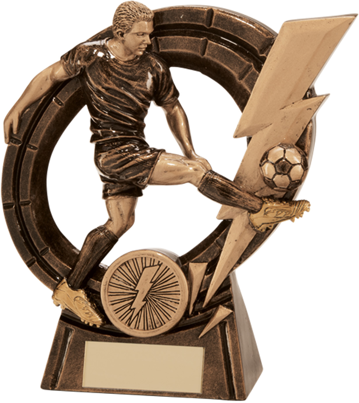 """Male Thunderbolt Striker Football Award 14.5cm (5.75"""")"""