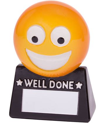 """Smiler Novelty Well Done Fun Trophy 8.5cm (3.25"""")"""