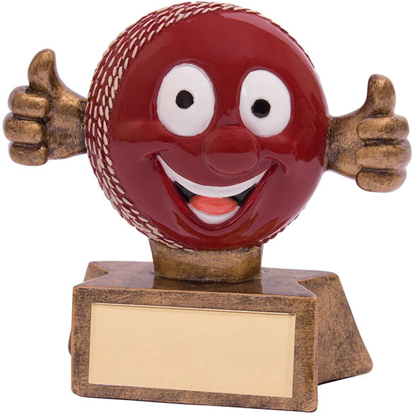 "Smiler Novelty Cricket Trophy 7.5cm (3"")"