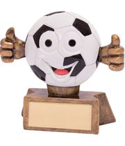 "Smiler Novelty Football Trophy 7.5cm (3"")"