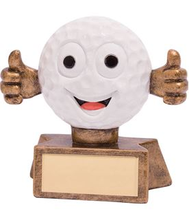 "Smiler Novelty Golf Trophy 7.5cm (3"")"