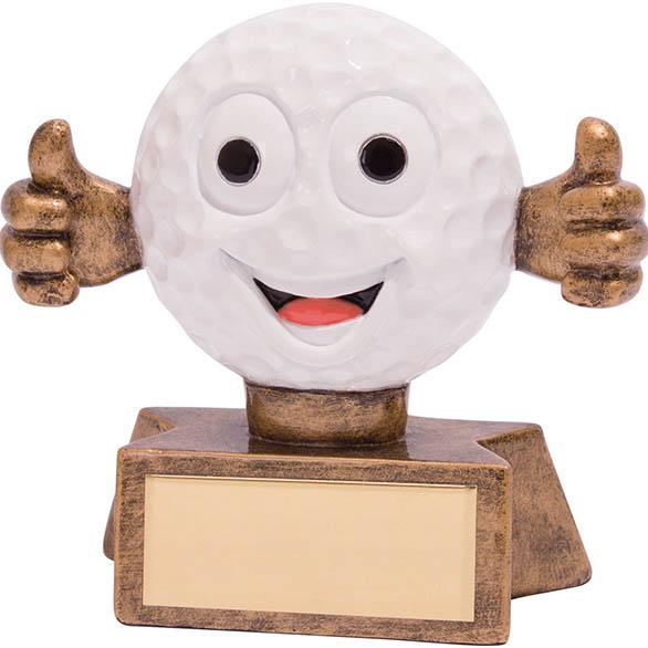 """Smiler Novelty Golf Trophy 7.5cm (3"""")"""