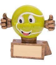 """Smiler Novelty Tennis Trophy 7.5cm (3"""")"""