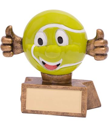 "Smiler Novelty Tennis Trophy 7.5cm (3"")"
