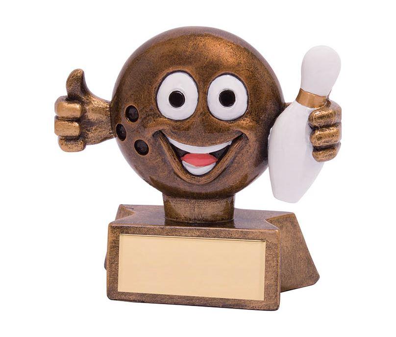 "Smiler Novelty Ten Pin Bowling Trophy 7.5cm (3"")"