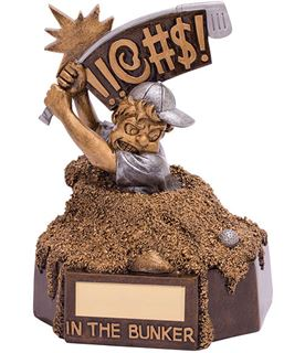 "Novelty Golf In The Bunker Award 15.5cm (6.25"")"