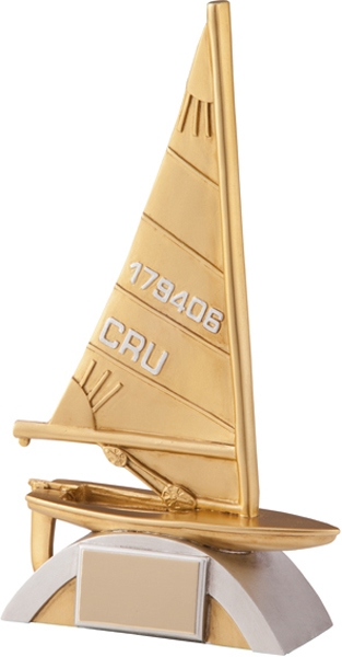 "Gold Resin Navigator Sailing Trophy 22.5cm (8.75"")"
