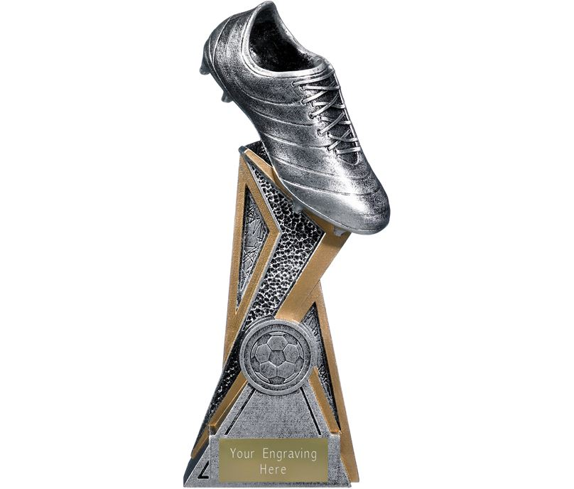"""Storm Football Boot Trophy Antique Silver 19cm (7.5"""")"""