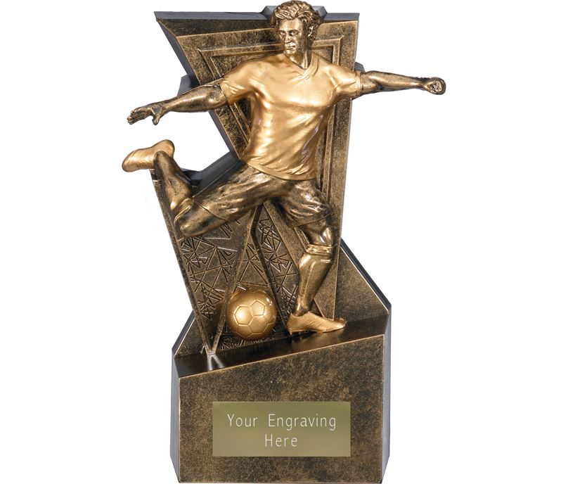 """Legacy Male Football Trophy Antique Gold 19cm (7.5"""")"""