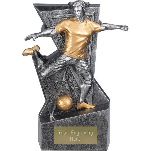 "Legacy Male Football Trophy Antique Silver 16cm (6.25"")"