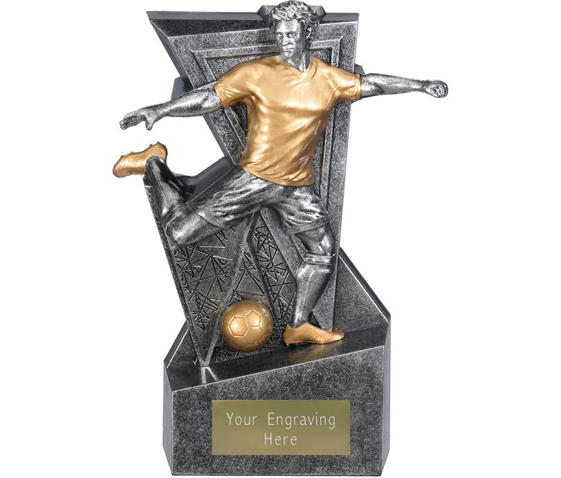 "Legacy Male Football Trophy Antique Silver 16cm (6.25"")"