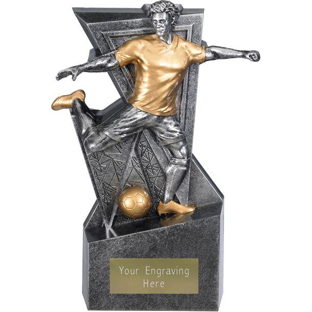"Legacy Male Football Trophy Antique Silver 19cm (7.5"")"