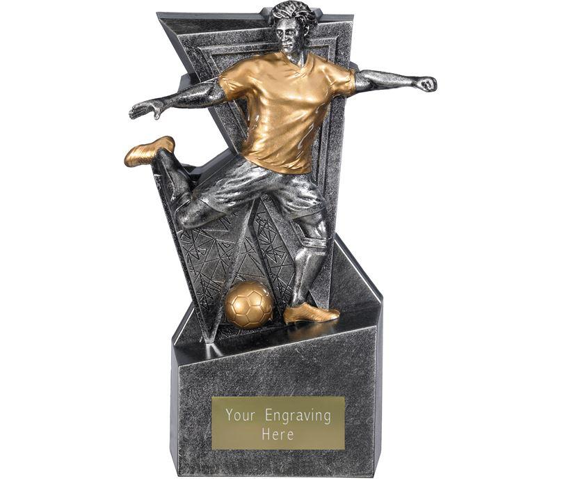 "Legacy Male Football Trophy Antique Silver 22cm (8.75"")"