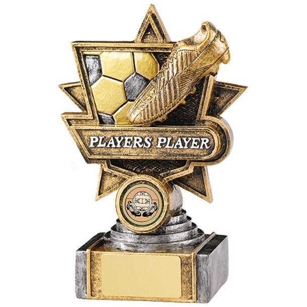 "Antique Gold Football Player Star Award Trophy 18cm (7"")"