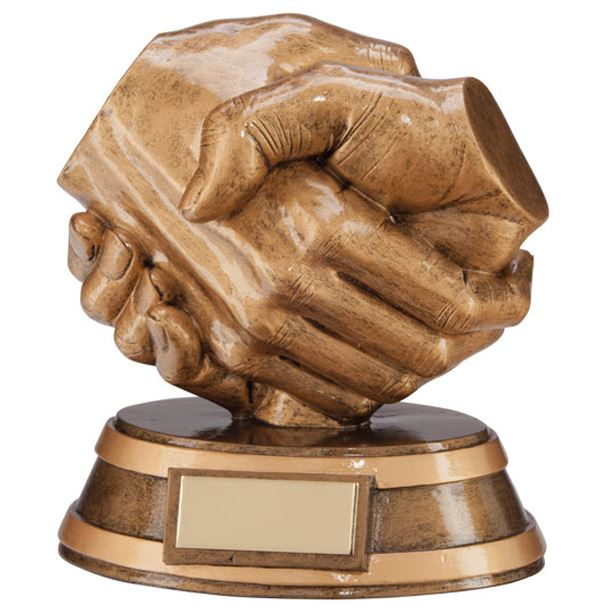 "Fairplay Handshake Trophy 13cm (5"")"