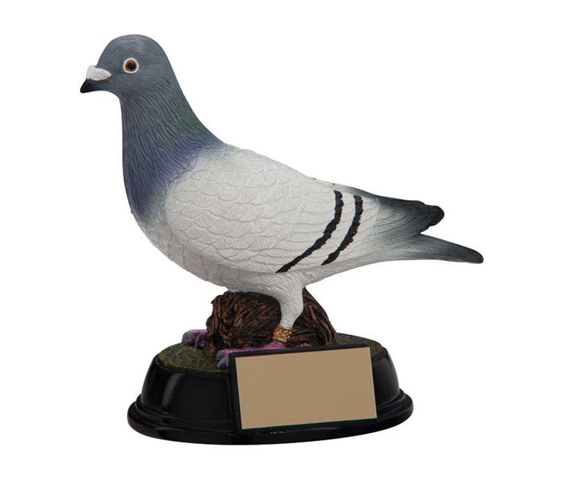 "3D Resin Elite Pigeon Racing Trophy 16cm (6.25"")"