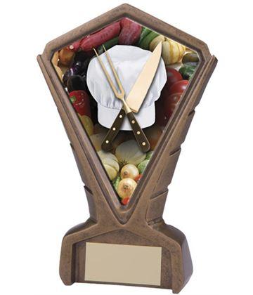 "Gold Resin Phoenix Cooking Centre Trophy 17cm (6.75"")"